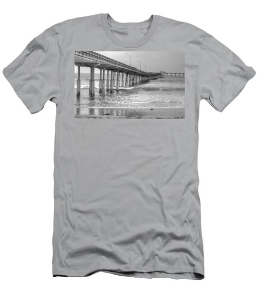 Ocean Beach Pier Men's T-Shirt (Athletic Fit)