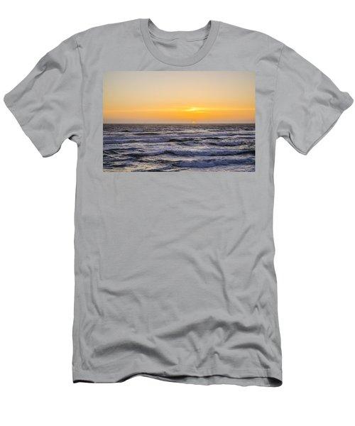 Ocean Beach Sunset Men's T-Shirt (Athletic Fit)