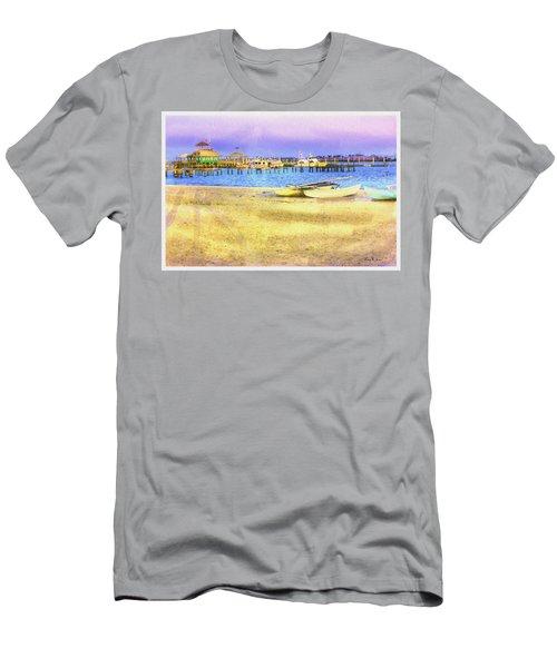 Coastal - Beach - Boats - Ocean Front Property Men's T-Shirt (Athletic Fit)