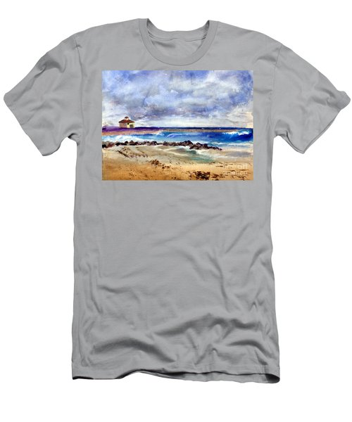 Ocean  Inlet Beach In Boynton Beach Men's T-Shirt (Athletic Fit)