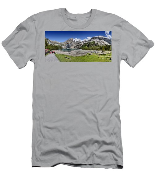Men's T-Shirt (Slim Fit) featuring the photograph Oeschinen Lake by Carsten Reisinger
