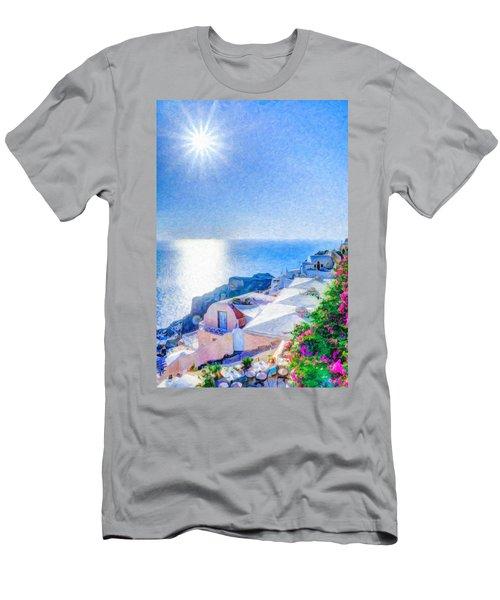 Oia Santorini Grk4178 Men's T-Shirt (Athletic Fit)