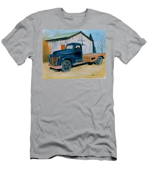 Men's T-Shirt (Slim Fit) featuring the painting Old Blue by Stacy C Bottoms