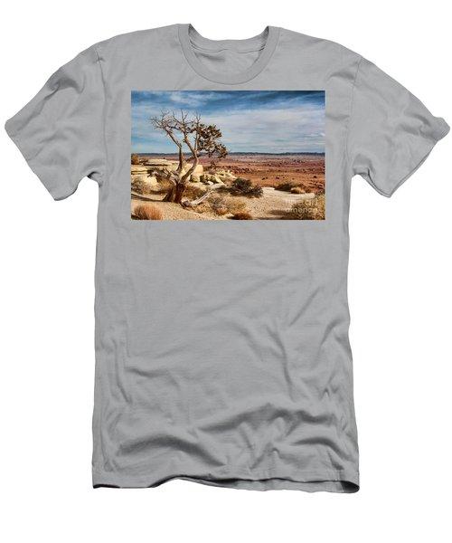 Old Desert Cypress Struggles To Survive Men's T-Shirt (Slim Fit) by Michael Flood