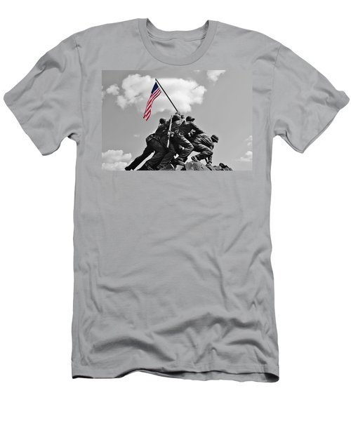 Old Glory At Iwo Jima Men's T-Shirt (Slim Fit) by Jean Goodwin Brooks