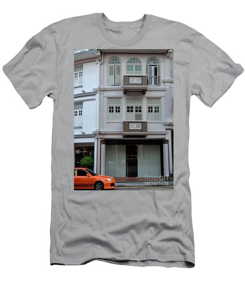 Men's T-Shirt (Slim Fit) featuring the photograph Old House And Funky Orange Car by Imran Ahmed