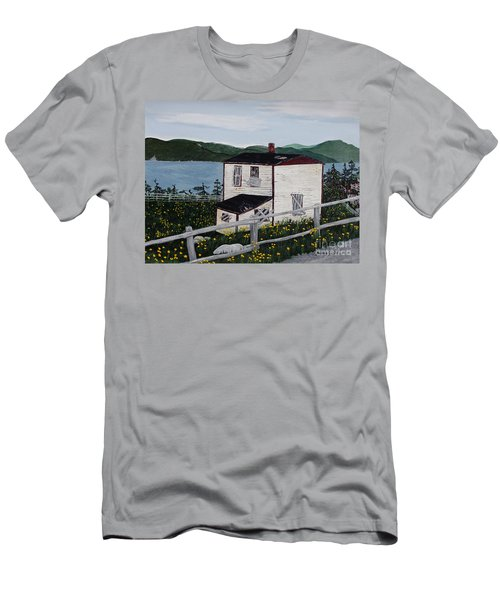 Men's T-Shirt (Slim Fit) featuring the painting Old House - If Walls Could Talk by Barbara Griffin
