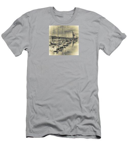 Men's T-Shirt (Slim Fit) featuring the photograph Olympia Marina 3 by Jean OKeeffe Macro Abundance Art