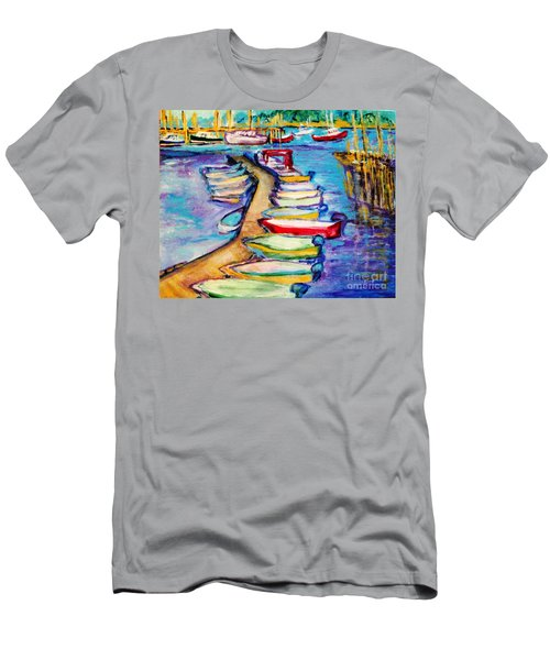 On The Boardwalk Men's T-Shirt (Slim Fit) by Helena Bebirian