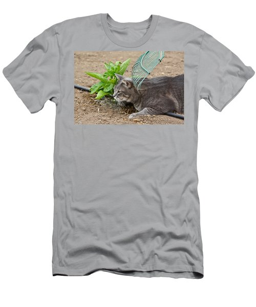 One Happy Cat Men's T-Shirt (Athletic Fit)