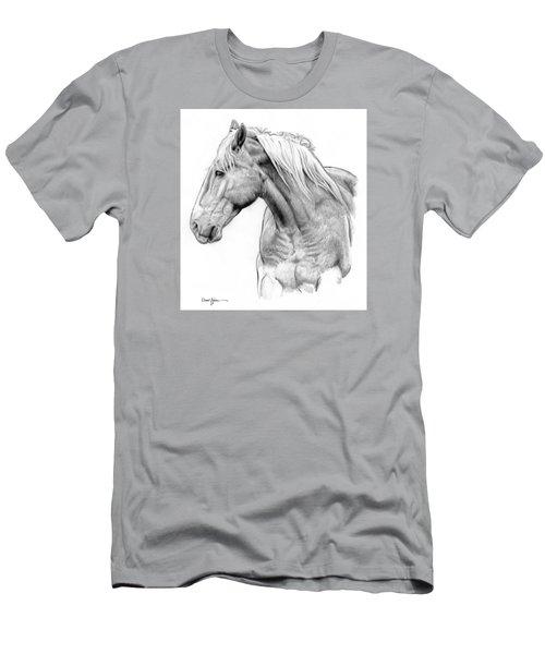 Da134 One Horse Daniel Adams  Men's T-Shirt (Athletic Fit)