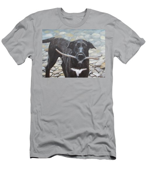 Men's T-Shirt (Athletic Fit) featuring the painting One More Time by Tammy Taylor