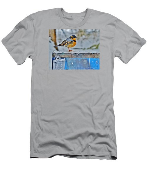 Orange Blue And Sleet Men's T-Shirt (Slim Fit) by VLee Watson