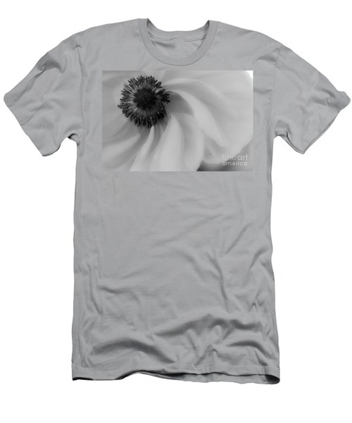 Orange Flower In Black And White Men's T-Shirt (Athletic Fit)