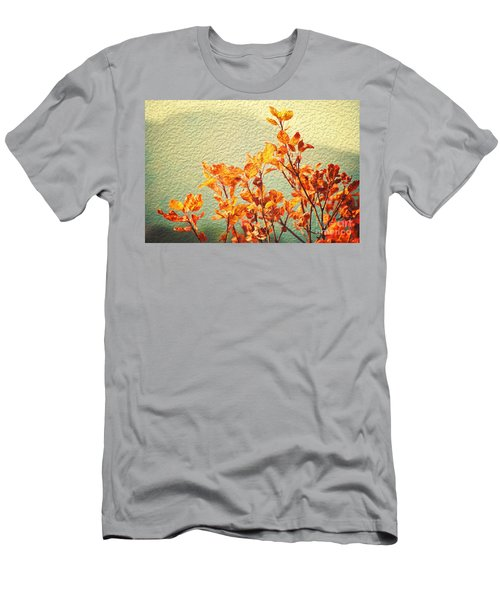 Men's T-Shirt (Slim Fit) featuring the photograph Orange Leaves by Yew Kwang