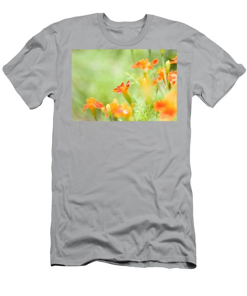 Men's T-Shirt (Slim Fit) featuring the photograph Orange Meadow by Ann Lauwers