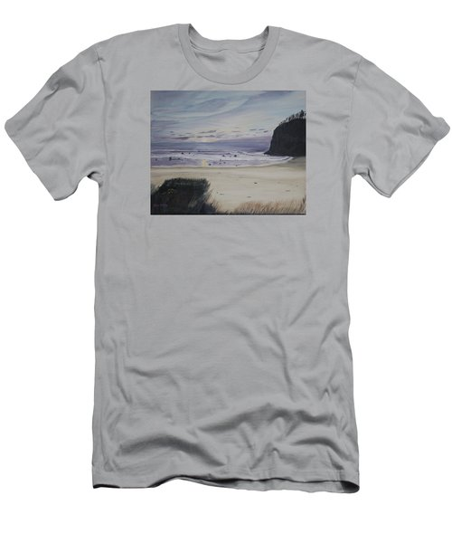 Men's T-Shirt (Slim Fit) featuring the painting Oregon Coast by Ian Donley