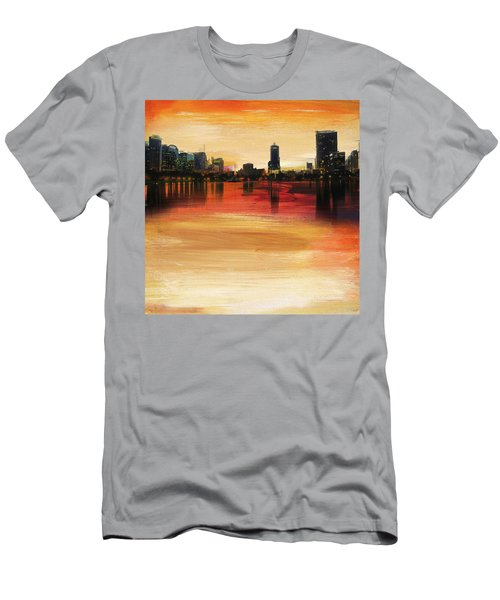 Orlando City Skyline  Men's T-Shirt (Athletic Fit)