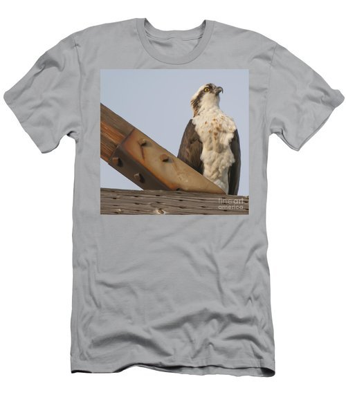 Men's T-Shirt (Slim Fit) featuring the photograph Osprey -seahawk by Dale Powell