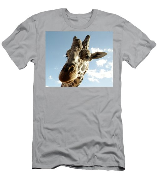 Out Of Africa  Reticulated Giraffe Men's T-Shirt (Athletic Fit)