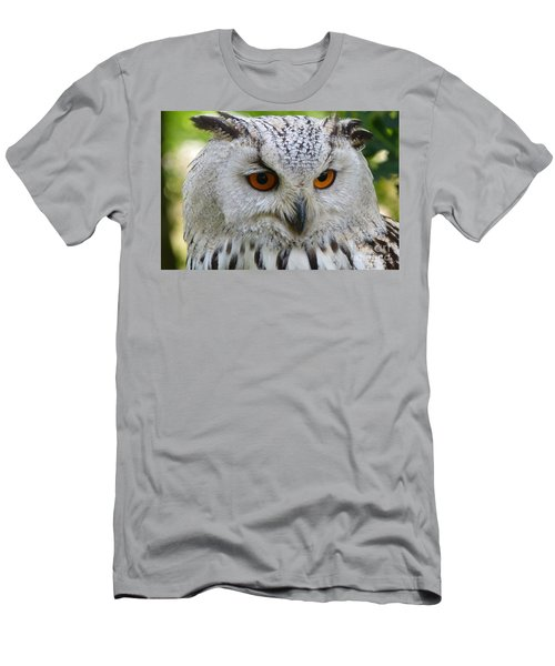 Men's T-Shirt (Slim Fit) featuring the photograph Owl Bird Animal Eagle Owl by Paul Fearn