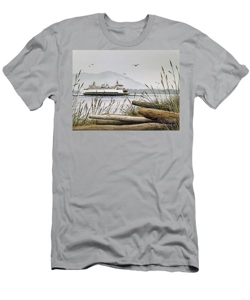 Pacific Northwest Ferry Men's T-Shirt (Slim Fit) by James Williamson