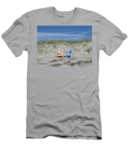 Painted Beach Chairs Men's T-Shirt (Slim Fit) by Ellen Meakin