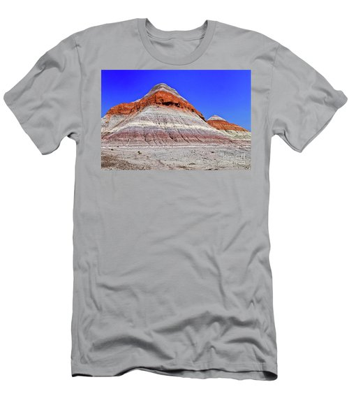 Men's T-Shirt (Slim Fit) featuring the photograph Painted Desert National Park by Bob and Nadine Johnston
