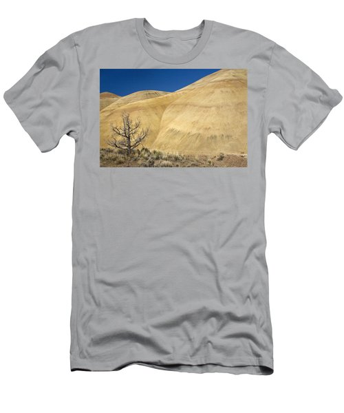 Men's T-Shirt (Slim Fit) featuring the photograph Painted Hills Tree by Sonya Lang