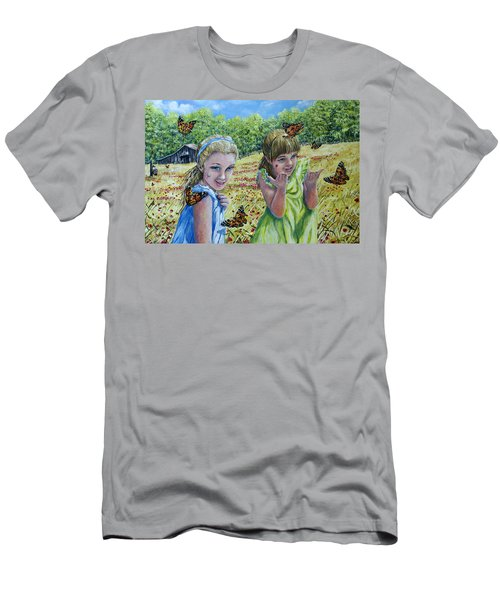 Painted Ladies Men's T-Shirt (Athletic Fit)