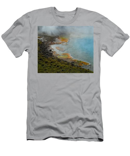 Men's T-Shirt (Slim Fit) featuring the photograph Painted Pool Of Yellowstone by Michele Myers
