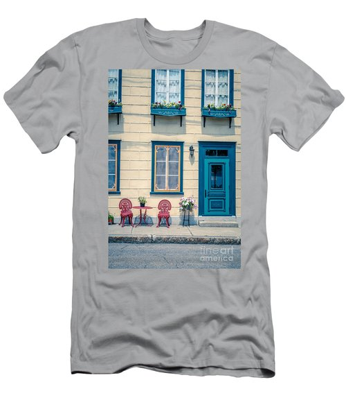 Painted Townhouse In Old Quebec City Men's T-Shirt (Athletic Fit)