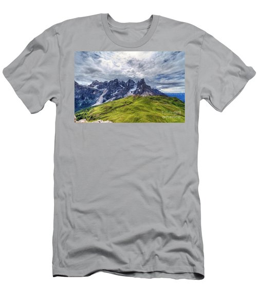 Men's T-Shirt (Slim Fit) featuring the photograph Pale San Martino - Hdr by Antonio Scarpi