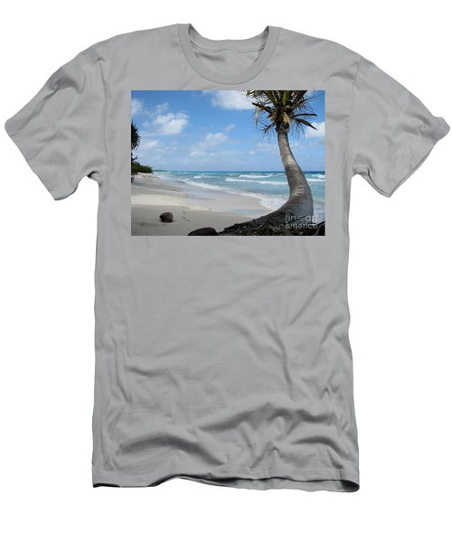 Palm Tree On The Beach Men's T-Shirt (Athletic Fit)
