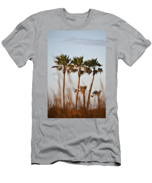 Palm Trees Through Tall Grass Men's T-Shirt (Athletic Fit)