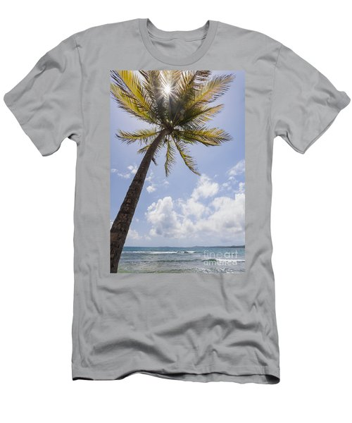 Men's T-Shirt (Athletic Fit) featuring the photograph Palms Trees Along Luquillo Beach In Puerto Rico by Bryan Mullennix