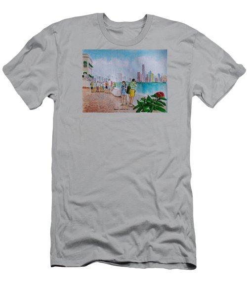 Panama City Panama Men's T-Shirt (Slim Fit) by Frank Hunter