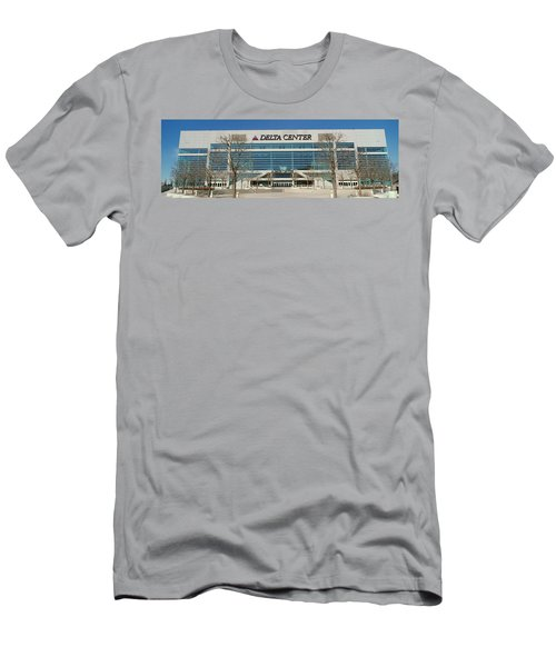 Panoramic Of Delta Center Building Men's T-Shirt (Athletic Fit)