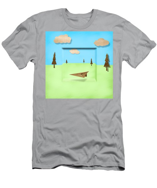 Paper Airplanes Of Wood 11 Men's T-Shirt (Athletic Fit)