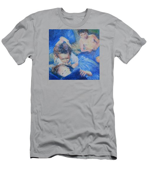 Men's T-Shirt (Slim Fit) featuring the painting Papo's Putti by Mark Robbins