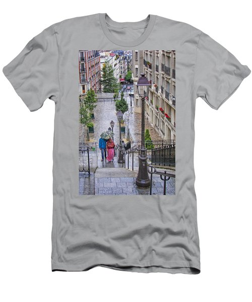 Paris Sous La Pluie Men's T-Shirt (Slim Fit) by Nikolyn McDonald