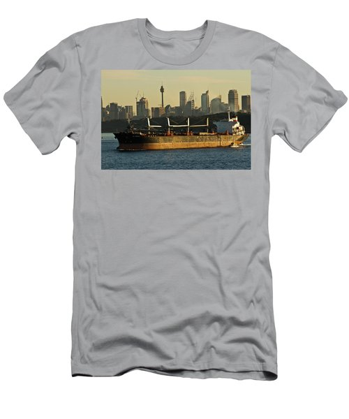 Men's T-Shirt (Slim Fit) featuring the photograph Passing Sydney In The Sunset by Miroslava Jurcik
