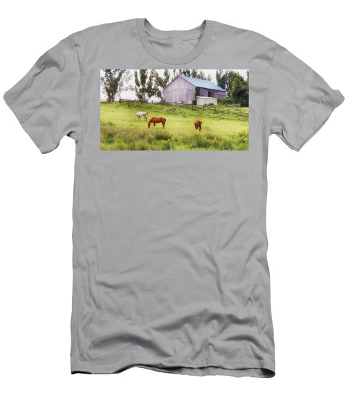 Men's T-Shirt (Athletic Fit) featuring the photograph Pasture by Garvin Hunter