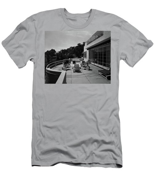 Paved Terrace At The Residence Of Mr. And Mrs Men's T-Shirt (Athletic Fit)