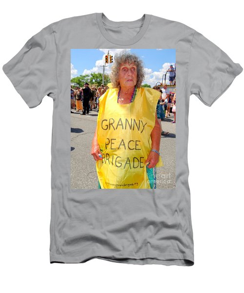 Men's T-Shirt (Slim Fit) featuring the photograph Peace Granny by Ed Weidman