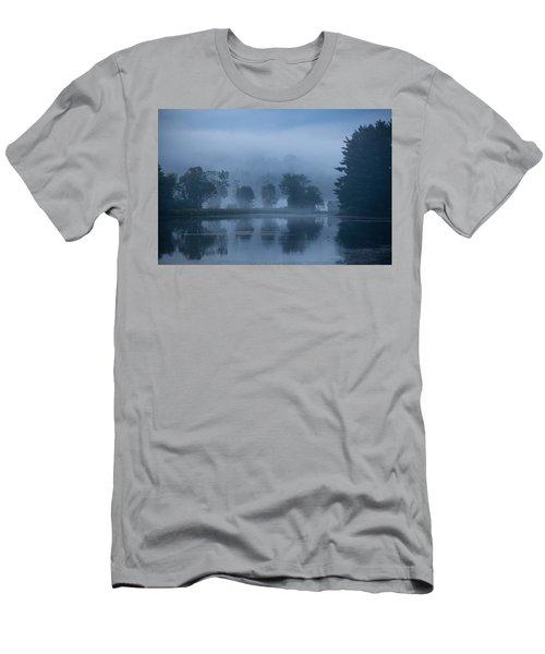Peaceful Blue Men's T-Shirt (Athletic Fit)