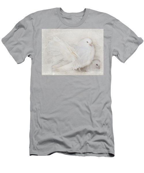 Peaceful Existence White On White Men's T-Shirt (Athletic Fit)