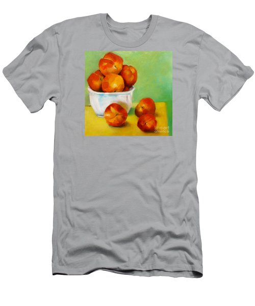 Men's T-Shirt (Slim Fit) featuring the painting Peachy Keen by Michelle Abrams