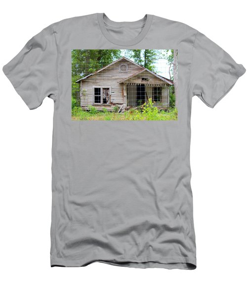 Peeking In At The Past Men's T-Shirt (Slim Fit) by Kathy  White