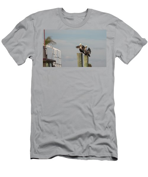 Men's T-Shirt (Slim Fit) featuring the photograph Pelican Buddies by John M Bailey